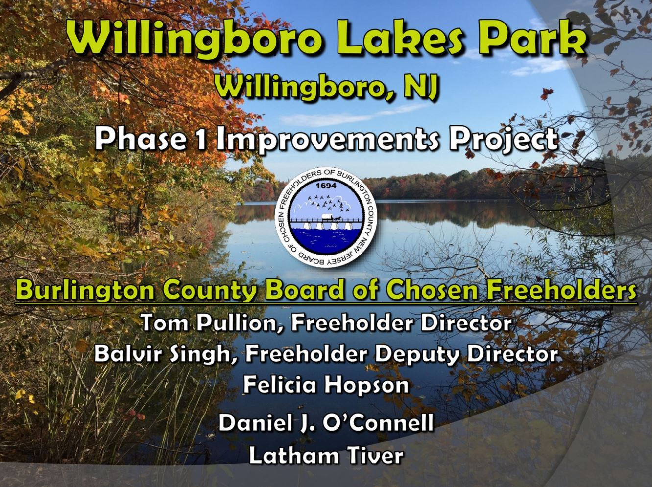 Cover of Willingboro Lakes Presentation