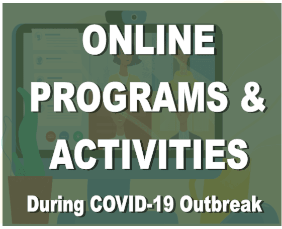 Online programs and events