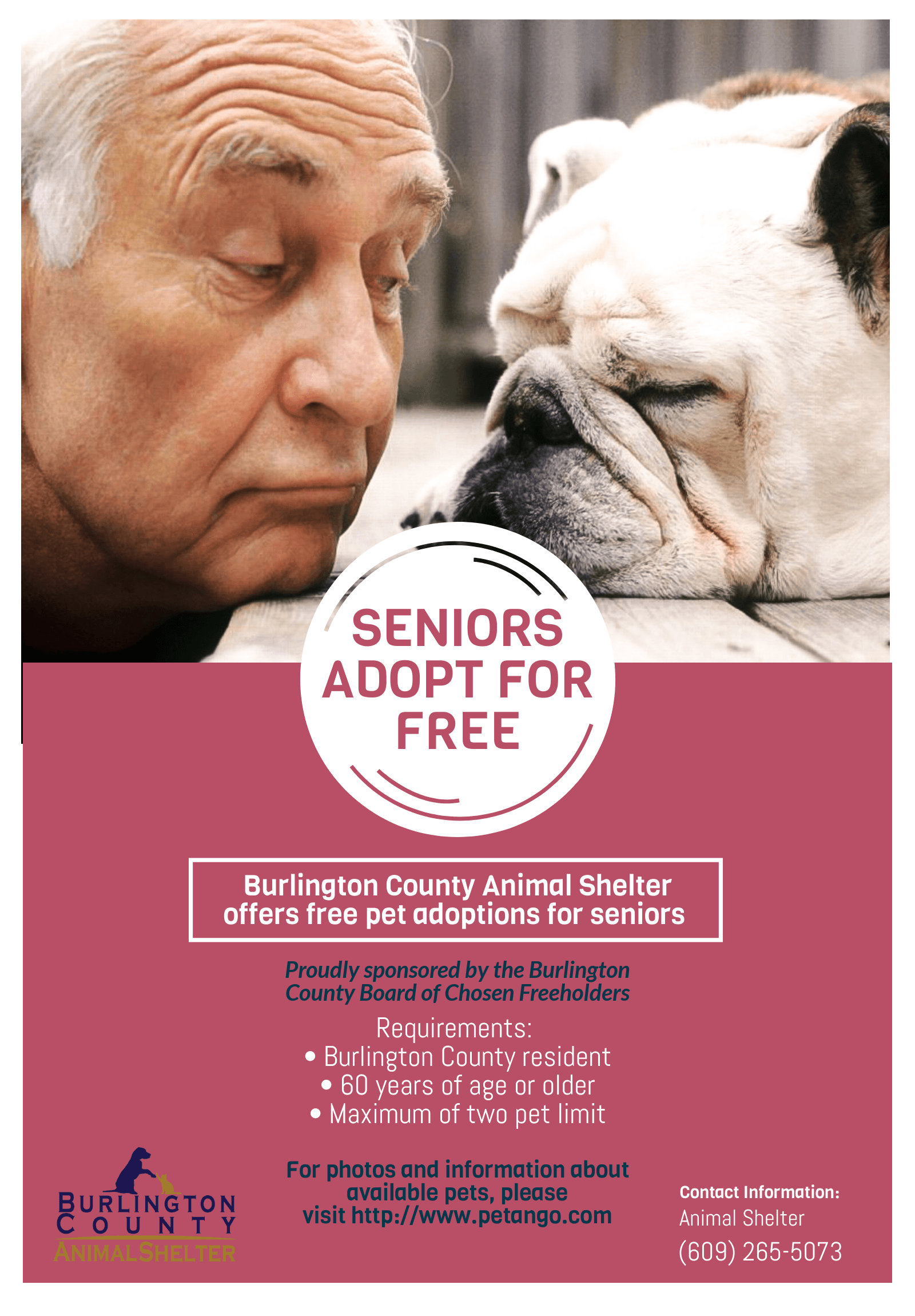 BCAS Free Pets for Seniors Flyer