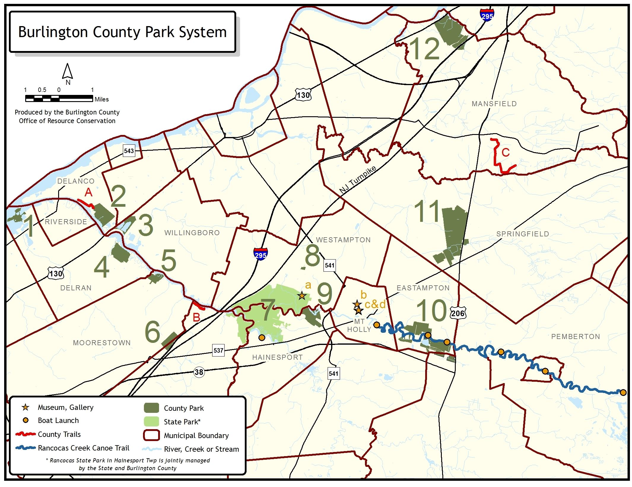 County Park System Map 2017
