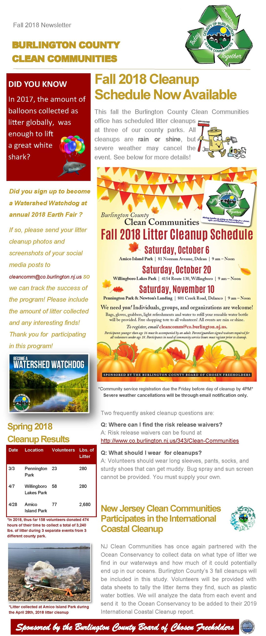 CC Fall 2018 Newsletter