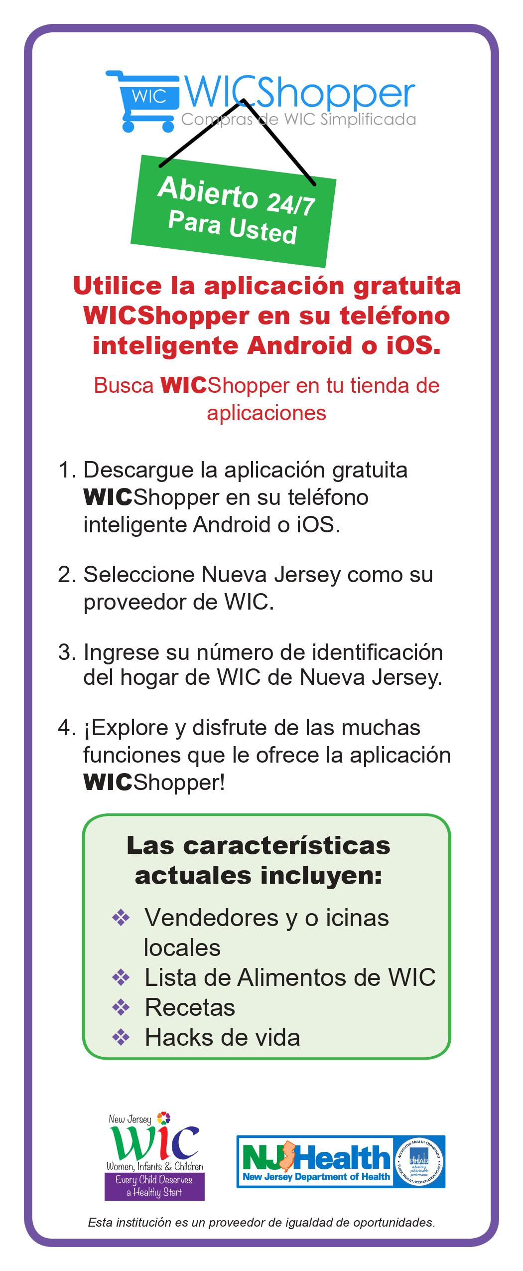 WICShopper flyer Spanish
