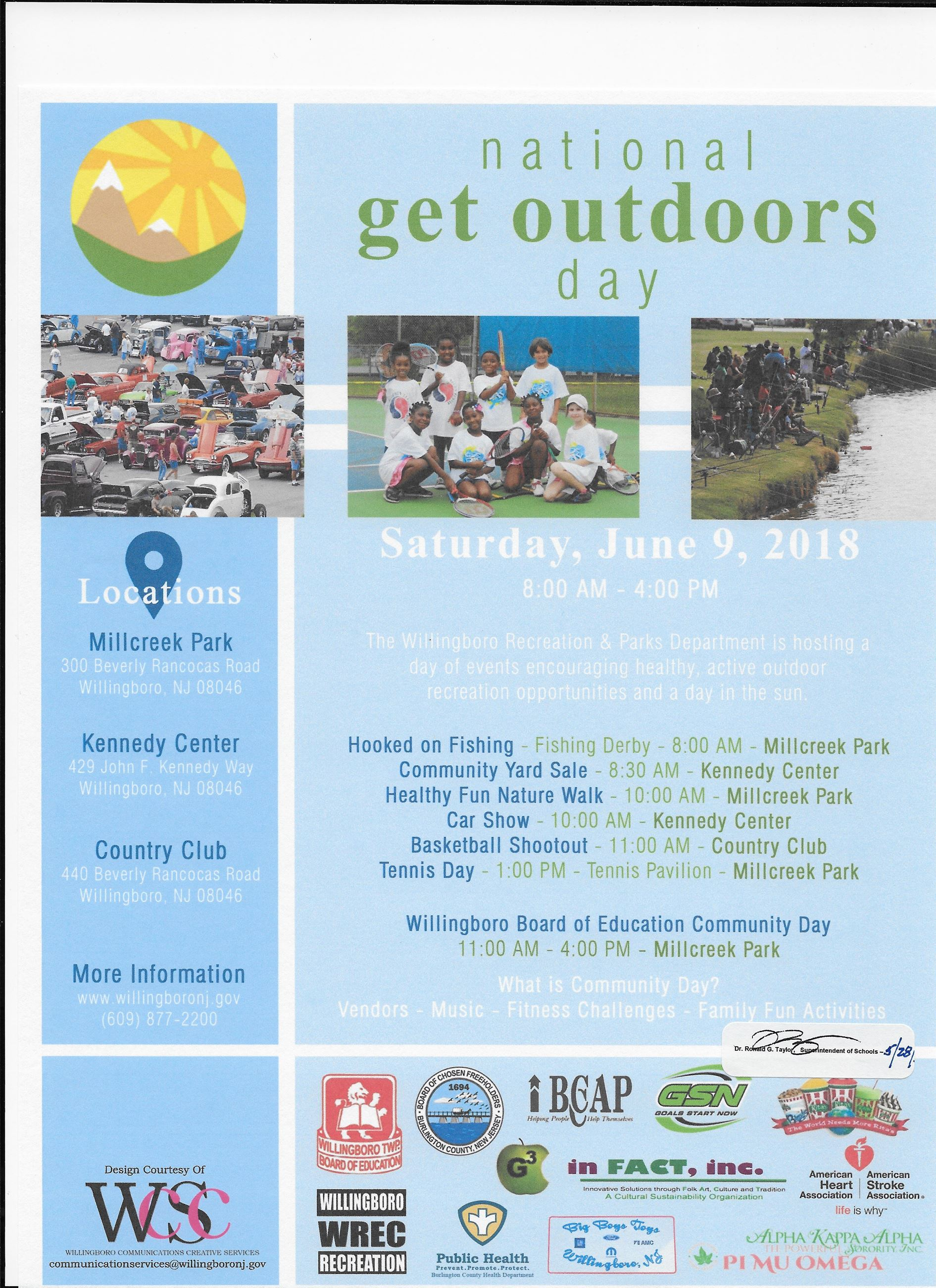 Get Outdoors Day 2018 Flyer for calendar