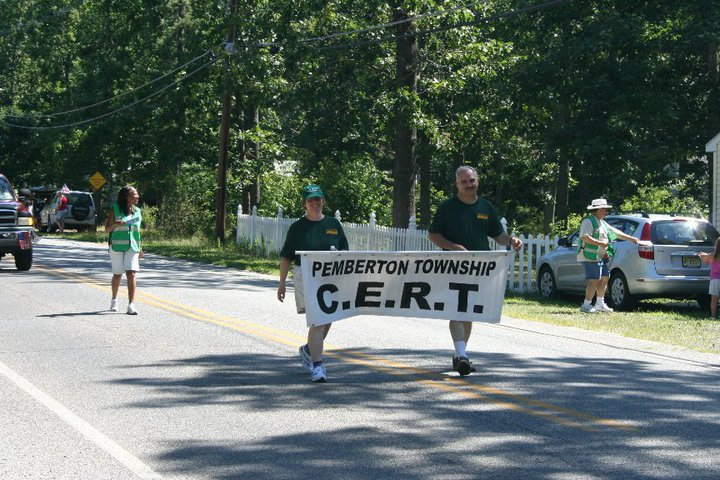 Pemberton CERT Participating in the Parade
