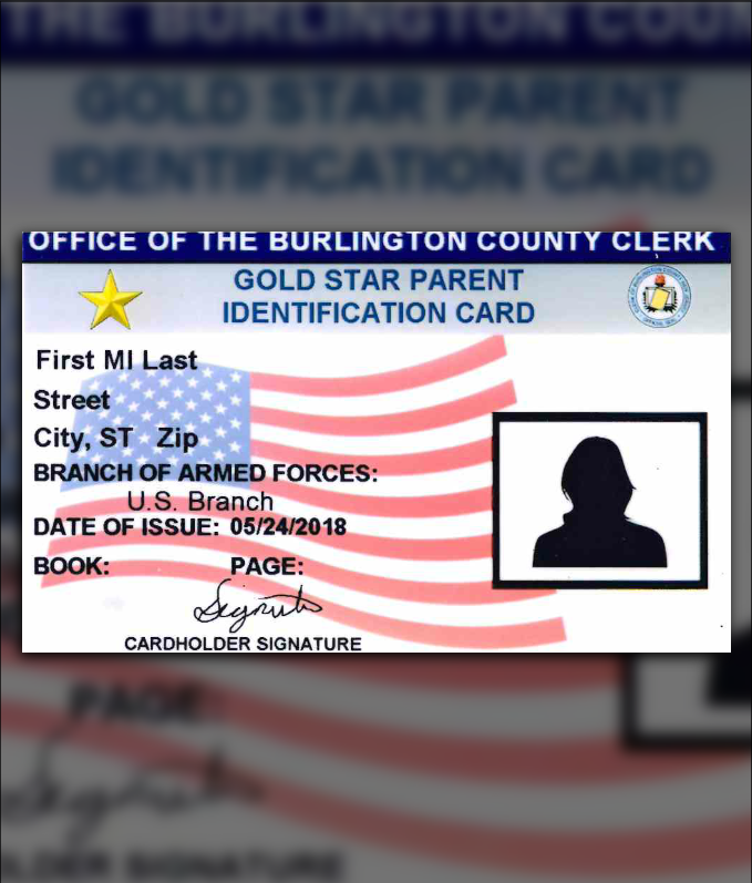 Gold Star ID Card
